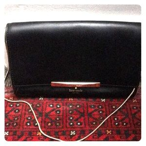 Black leather Kate Spade purse